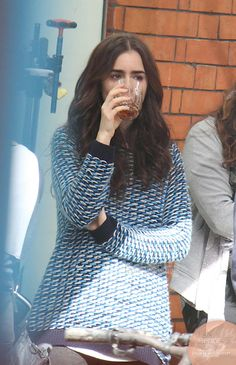 """love rosie lily collins    Lily Collins Lily filming """"Love, Rosie"""" in Dublin, Ireland (27th May ..."""
