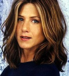 Jennifer Aniston Hair Style. Jennifer Aniston. Medium To Long Brown Curly-Wavy Hair Style Picture. - pretiffy