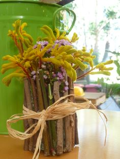 Stick craft vase