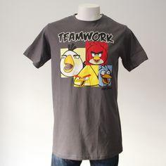 CAMISETA ANGRY BIRDS TEAMWORK. Gran variedad de camisetas exclusivas, de diferentes temáticas y gran calidad. 100% algodón. ¡ Encuentra la tuya !