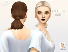 Miss Paraply: Scientist Low Loop hairstyle retextured  - Sims 4 Hairs - http://sims4hairs.com/miss-paraply-scientist-low-loop-hairstyle-retextured/