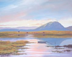 nephin mountain  co mayo - Painting,  2x16x20 in ©2013 by Cathal O Malley -              nephin  mountain  painting  co mayo