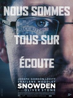 French Poster of Oliver Stone's Snowden : Teaser Trailer Oliver Stone, 10 Film, Film Movie, Pikachu, Pokemon, Joseph Gordon Levitt, Edward Snowden, Hd Movies Online, Tv Series Online
