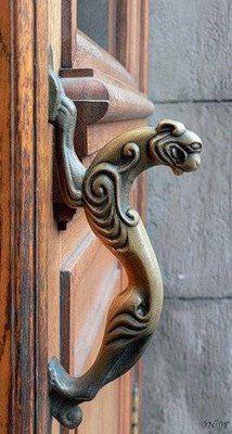 40 unusually creative external door handles | Curious, Funny Photos / Pictures