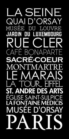 Paris French Bus Roll SUBWAY Sign Art STOCK by GeezeesCustomCanvas