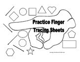 This file has 11 shapes,   circle, square, rectangle, triangle diamond, oval, pentagon, heart, October, hexagon, and star.   Children practice tracing the shapes with there finger.
