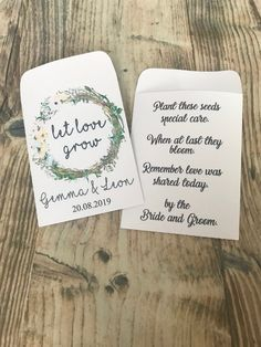 Excited to share this item from my shop: wild flower seeds Wedding Favours Packets Personalised Vintage Boho Rustic, let love grow seed packets, pack of 10 Seed Wedding Favors, Vintage Wedding Favors, Creative Wedding Favors, Inexpensive Wedding Favors, Elegant Wedding Favors, Wedding Gifts For Guests, Personalized Wedding Favors, Wedding Souvenir, Wedding Ideas