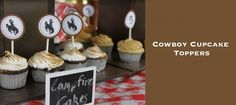 Free Birthday Printables! Cowboy Cupcake Toppers