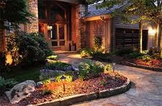 landscape lighting curb - Google Search