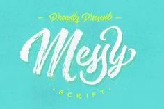 Messy Script by maghrib $16