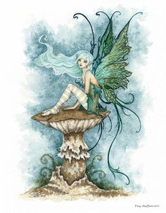Fairy Art Artist Amy Brown: The Official Online Gallery. Fantasy Art, Faery Art, Dragons, and Magical Things Await. Elfen Tattoo, Maus Illustration, Amy Brown Fairies, Dark Fairies, Fairy Drawings, Fairy Paintings, Kobold, Fairy Pictures, Beautiful Fairies