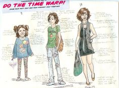 time warp by burdge-bug.deviantart.com on @deviantART... this would be a really cool drawing experiment for me to do
