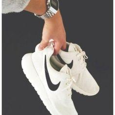 shoes white nike, shoes, fitness nike roshe run nike sportswear nike, free run, trainers, running, sport, athletic, white, grey, shoes, whit...