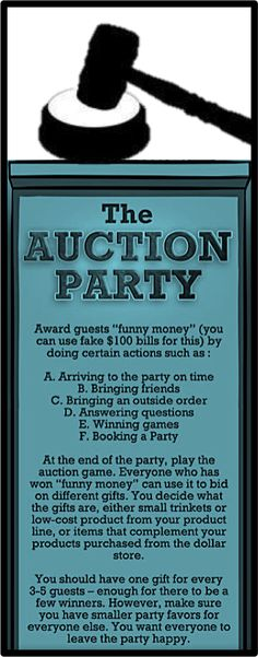 The AUCTION PARTY!  This sounds like SO much fun!