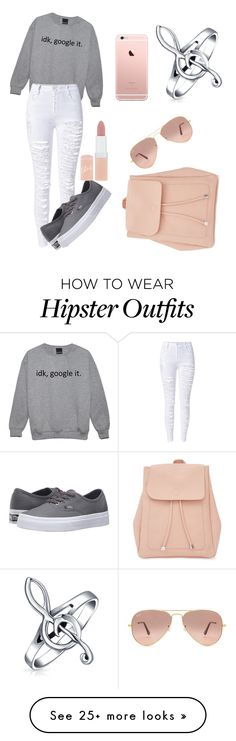 """Untitled #33"" by xxgeekyxx on Polyvore featuring WithChic, Vans, Rimmel, Ray-Ban, New Look and Bling Jewelry"