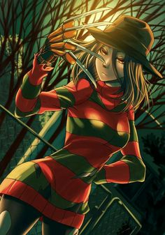 Horror Movie Characters, Fantasy Characters, Horror Movies, Freddy Krueger, Arte Horror, Horror Art, Terror Sexy, Anime Meme, Japanese Urban Legends