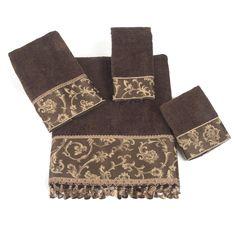 Avanti Linens Damask Fringe 4 Piece Towel Set & Reviews   Wayfair