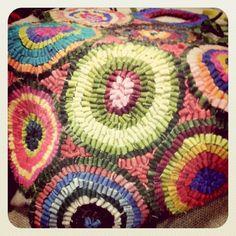 Wool hooked rug.