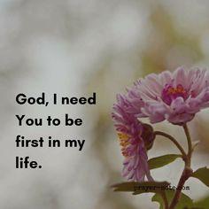 God always comes first. #prayernote #Prayer