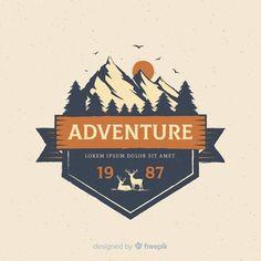 Two backpacker travelers flat vector characters Vector Adventure Time, Adventure Travel, Adventure Tattoo, Adventure Couple, Adventure Quotes, Typography Logo, Logo Branding, T Shirt Design Maker, Outdoor Logos