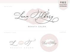 Calligraphy Logo, Logan, Lip Logo, Makeup Artist Logo, Beauty Salon Logo, Instagram Post Template, Boutique Logo, Photography Logo Design, Elegant Logo