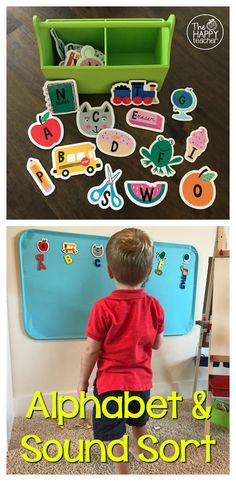 Easy and engaging alphabet and letter sound sort using magnets