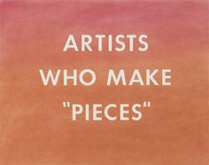 """Edward Ruscha - Artists Who Make """"Pieces"""", 1976, pastel on paper"""