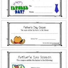 Father's Day Coupon Book {printable} Did these this year too... yes, Jason got more than spoiled on Fathers day this year... and of course, he deserves every bit of it!