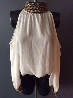 Blusa blanca hombros descubiertos gaza - GoTrendier - 37045 0a76665d5f080