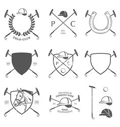 Set of vintage horse polo labels and badges vector by ivanbaranov on VectorStock®
