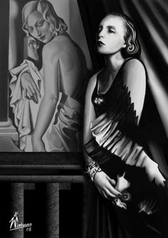 The Painted Prism: WOMEN ARTISTS: Tamara de Lempicka -- One of the most memorable and glamorous Art Deco artists.