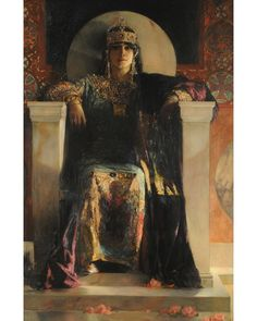 Theodora, Jean Joseph Benjamin Constant, Constant was a French painter and etcher best known for his Oriental subjects and portraits. Art And Illustration, Pre Raphaelite, Classical Art, Fine Art, Art Plastique, Aesthetic Art, Beautiful Paintings, Art History, Roman History