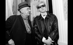 Today marks 25 years since the death of Andy Warhol. Pictured: Weegee and Andy Warhol at the caterpillar Changes multimedia event, New York, 1967 See more – Weegee's Naked Hollywood Weegee Photography, White Photography, Street Photography, Ukraine, The Dark Side, Popular Artists, Famous Photographers, Episode 5, Andy Warhol