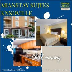 Our countless amenities and courteous staff are sure to please. Make us your home away from home in Knoxville, TN. Visit our website:- mainstayknoxville.com OR Contact:- +1 (865) 247-0222 to get amazing services. #mainstay #hotel #motel #knoxville #suites #Tennessee #mainstay #explore #magicalcity #stay #contactusnow📲 #book #booknow‼️