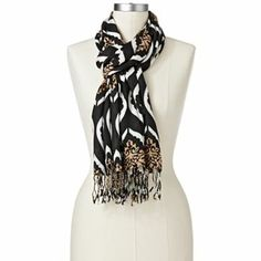 Apt. 9 Medallion Pashmina Scarf - Black - kohls.com - Original Price 20 Dollars - Clearance Price 3