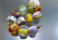 Melanie Moertel Lampwork Beads  Colorful glass by melaniemoertel, $132.00