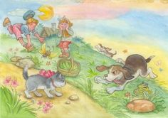 38-Mignonnes illustrations serie N ( N.L) De Natalya Logvanova © ( artiste Russe )
