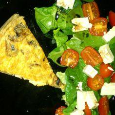 Nhami - Mushroom pie and salad