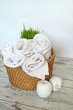 Linen towel set of 5  White linen towels  Soft by pureWHITEspa