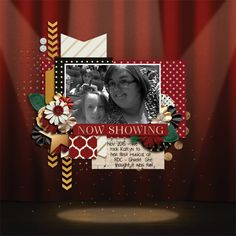 Now Showing | On Stage - Grace Lee  http://www.sweetshoppedesigns.com/sweetshoppe/product.php?productid=39331 |  Tickled Pink collab template - Crystal Livesay | #scrapbook #digiscrapping #sweetshoppedesigns #gracelee