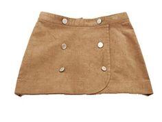 Miss L Velvet Cocoa Skirt