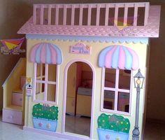 Playhouse Bed, Kids Indoor Playhouse, Kids Bedroom Furniture, Home Bedroom, Girls Bedroom, Unique Kids Beds, Rainbow Room, Princess Room, Little Girl Rooms