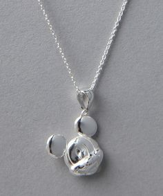 Take a look at this Sterling Silver Mickey Pendant Necklace on zulily today!
