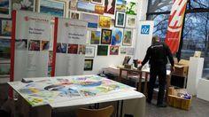 Rostock kreativ – ein großes Aquarell entsteht | Aufräumen nach der Fertigstellung unseres Bildes – Rostock kreativ 2015