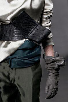 Haider Ackermann Fall 2011. Silk draped fabric details.