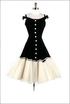 50's button down dress