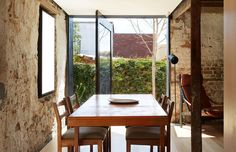 'The Barn' – this cleverly converted sandstone barn in Hobart, Tasmania is a cosy residence for young architects Alex Nielsen and Liz Walsh. Photo – Sean Fennessy, production – Lucy Feagins / The Design Files.