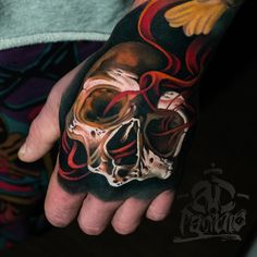 Our Website is the greatest collection of tattoos designs and artists. Find Inspirations for your next Skull Tattoo. Search for more Tattoos. Skull Hand Tattoo, Hand Tats, Sugar Skull Tattoos, Skull Tattoo Design, Tattoo Designs, Body Art Tattoos, Small Tattoos, Sleeve Tattoos, Tattoos For Guys