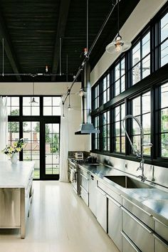 roomahouses: Industrial kitchen design.