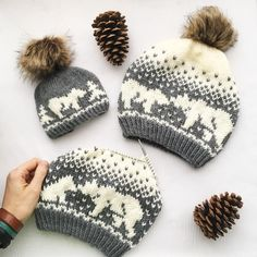 Kodiak Kisses fair isle hat knitting pattern available at LoveKnitting! Start yo… Kodiak Kisses fair isle hat knitting pattern available at LoveKnitting! Start your new winter project and share your progress on the LoveKnitting website. Motif Fair Isle, Mittens Pattern, Knit Slouchy Hat Pattern, Slouchy Beanie, Knitting Charts, Knitting Projects, Knitting Ideas, Fall Knitting, Crochet Projects